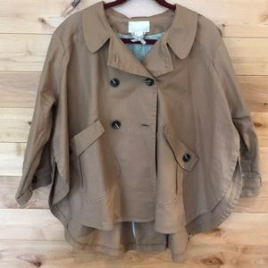 H&M tan rain cape